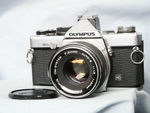 Olympus OM-2N Pro 35mm SLR Camera c/w  50mm 1.8 Prime Lens -Film Tested-